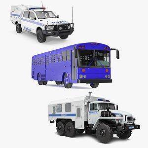 Prison Transport Collection 3D model