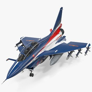 3D model chengdu j10 s aerobatic