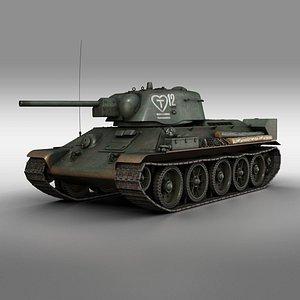t-34-76 1942 - 12 3D model