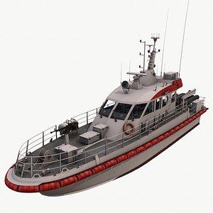 patrol boat haydar iran 3D