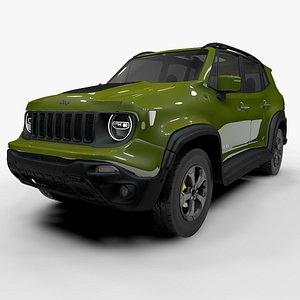Jeep Renegade Light Green Trailhawk 2019 L1390 3D model
