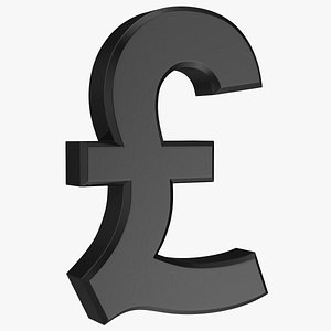 3D uk pound currency symbol