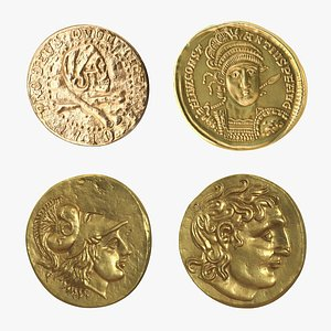 3D model Gold Ancient Coins Collection
