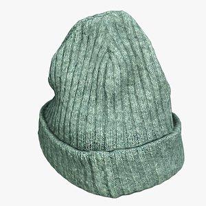 3D knit cap cloth model