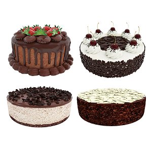 Chocolate cake collection 3D model