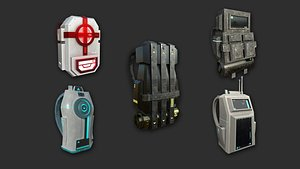 3D 05 sci-fi backpack -