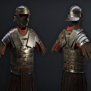 3D model realistic armor