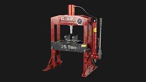 hydraulic bench press 3D