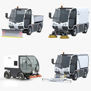 3D Compact Road Sweeper Machines model