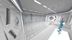 3D Sci-fi Room Fly-Through model