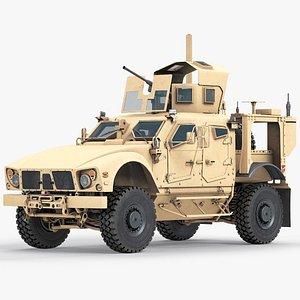 JLTV Oshkosh Heavy Guns Carrier 3D model
