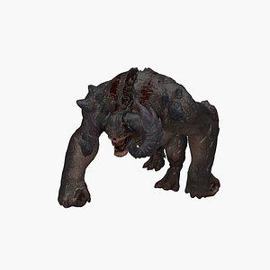 3D model gorilla monster
