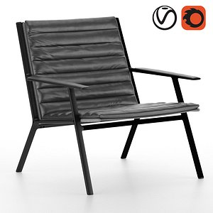 3D leather lounge model
