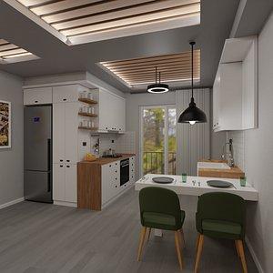 3D Kitchen Model B