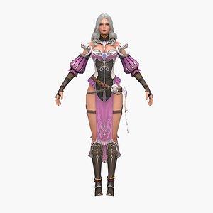 3D girl fantasy model