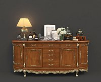Classic Chest Of Drawer and Decoration