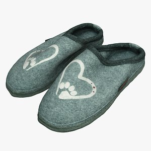 3D slippers shoes model