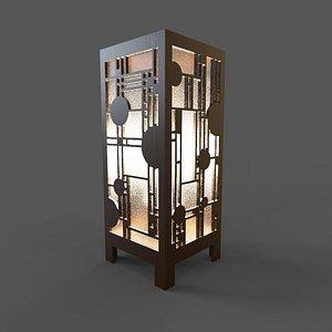 Lamp Abstract light box DIY 3D model