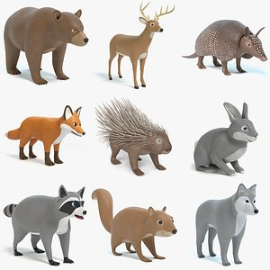 cartoon toon animal 3D model