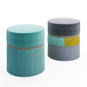 3D seating pouf ottoman
