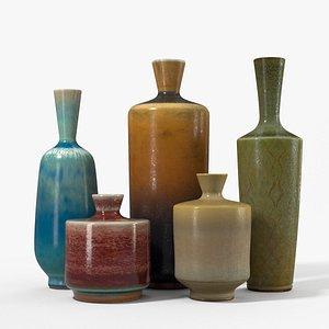 ceramic vases berndt friberg 3D model