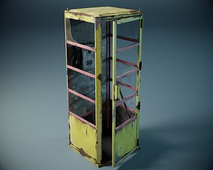 3D phone booth pbr model