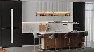 interior modern kitchen 3D model