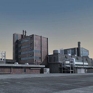 industrial scene 3D model