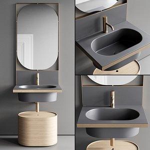 Ceramica Cielo Elle Vanity Unit Set 2 3D model