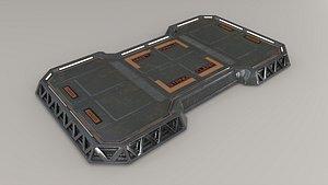 3D Sci-fi Landing Pad model