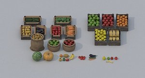 Fruits and Vegetables PBR 3D