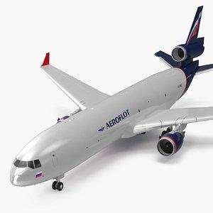 McDonnell Douglas MD11 Tri Jet Airliner Aeroflot 3D model