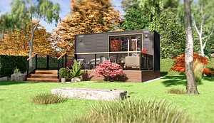 3D Tiny House TIMO on 15m2 model