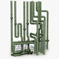 Industrial Pipe System 8 3D Model