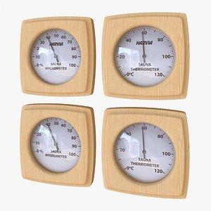 3D Thermometer-Hygrometer Sauna