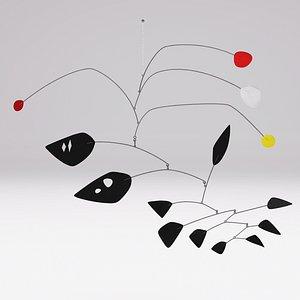 3D Alexander Calder Untitled 1955 model
