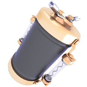 capacitor electrical 3D model