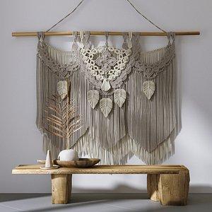 decorative set wall hanging 3D model