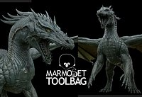 Dragon PBR Low-poly 3D model