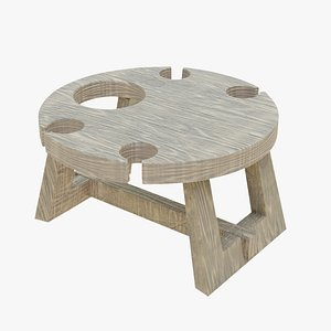 wooden table wine model
