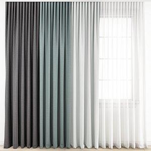 Curtain180 3D model