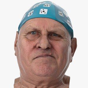 3D model Homer Human Head Jaw Sideways Right AU30 Clean Scan