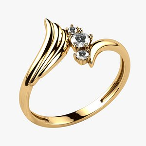 Wing Fashion Gold Ring model