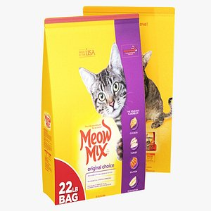 3D Meow Mix Pet Feed model