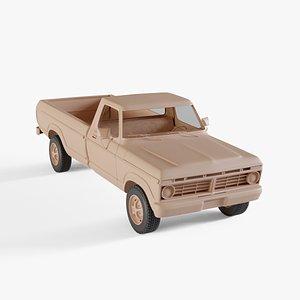 3D 1973 Ford F-150 Ranger