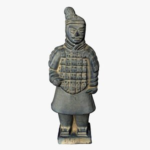 3D model terracotta warrior chinese