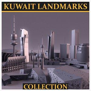 kuwait city landmarks 3D