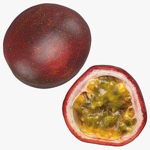 Passionfruit Set 3D model