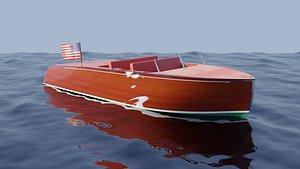 3D Generic classic boat model