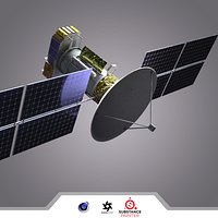 Satellite with high res texture